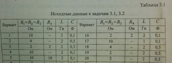 Задача 3.1 по ТОЭ, ДВПИ им. В.В. Куйбышева