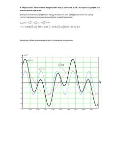 Линейные электрические цепи с источником периодических воздействий, Вариант 5, M=4, ПНИПУ