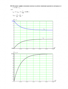 Решение домашнего задания №3 «Переходные процессы в линейных цепях первого порядка», Вариант 56, РГУНиГ