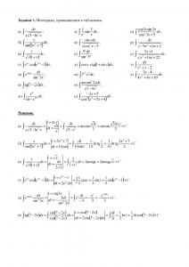 Решение индивидуального задания по теме «Неопределённые интегралы», Вариант 8, ПГТУ